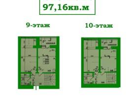 Двухуровневая 3-комн.кв.,97 кв.м с автоном.отопл. Независимости