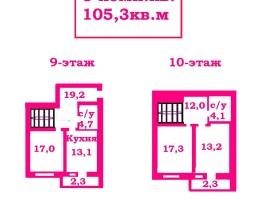 $30.480 Просторная двухуровневая 1-комн.кв.,105м ул. Жабинского.