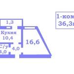 1-комн.кв., 36,6 м