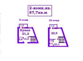 ! Двухуровневая квартира,87м в СДАНОМ доме. Жабинского