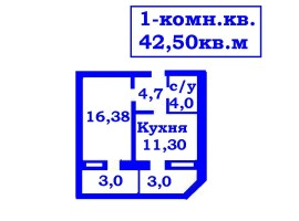 + Эксклюзивное предложение 1-комн. 46м и 42м ул. Гончая