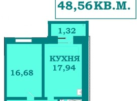 !1-кімн. квартира, 48м з автономкою від ЗАБУДОВНИКА, вул. Срілецька