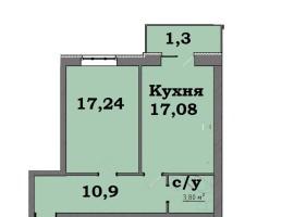 1-комн.квартира, 50м в новом доме на Еськова.