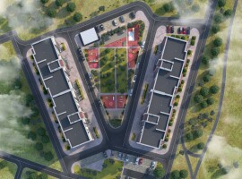 2-комн. квартира, площадью - 65,95м в новом ЖК Лесной (р-н Масаны)