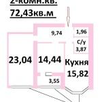 2-комн.кв.72,43м